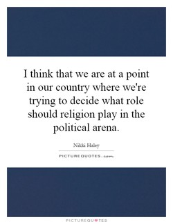 I think that we are at a point 