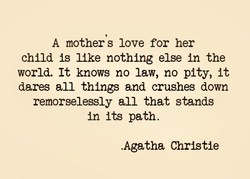 A mother s love for her 