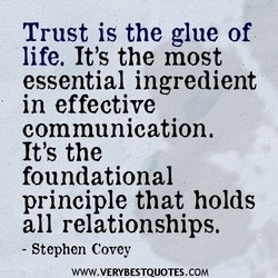 Trust is the glue of 