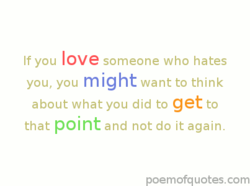 If you love someone who hates 
