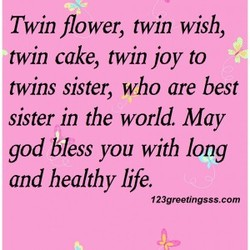 Twin flower, twin wish, 
