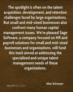 The spotlight is often on the talent 
