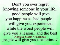 Don't you ever regret 