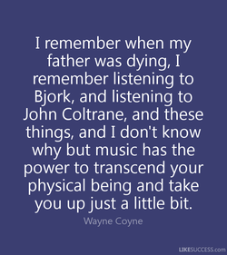 I remember when my 