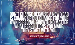 OWN PERSONAL GROWTH NO MATTER 