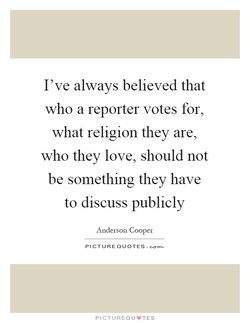 I've always believed that 