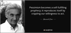 Pessimism becomes a self-fulfilling 