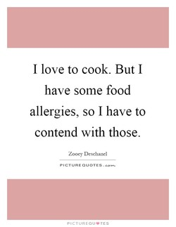 I love to cook. But I 