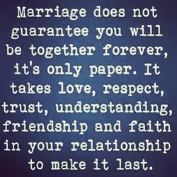 Marriage does not 