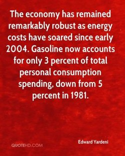 The economy has remained 