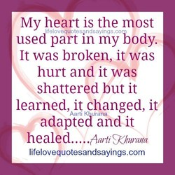 My heart is the most 