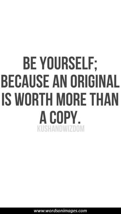 BE YOURSELF; 