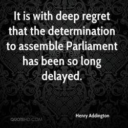 It is with deep regret 