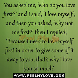 You asked me, 'who do you love 