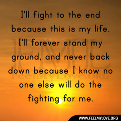 because this is my life. 