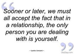 Sobner or later, we must 
