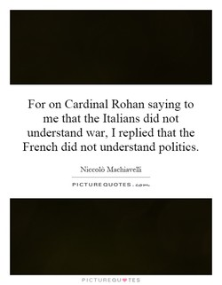 For on Cardinal Rohan saying to 