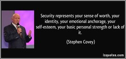 Security represents your sense of worth, your 