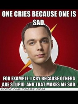 ONE CRIES BECAUSE ONE IS 
