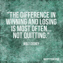 WINNING AND LOSING 