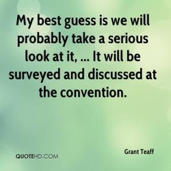 My best guess is we will 