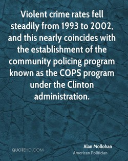 Violent crime rates fell 