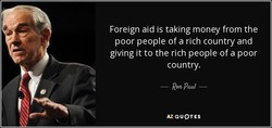 Foreign aid is taking money from the 