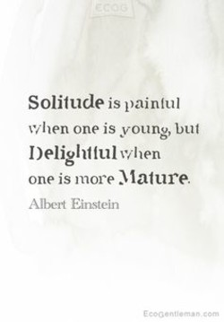Solitude is paintul 