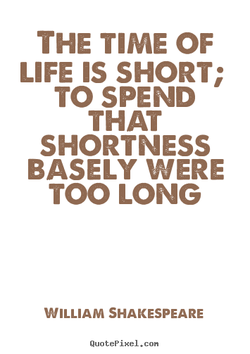 THE TIME OF 