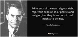 Adherents of the new religious right 