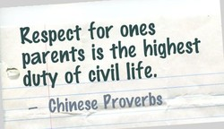 Respect for ones 