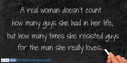 H real woman doesn't count 