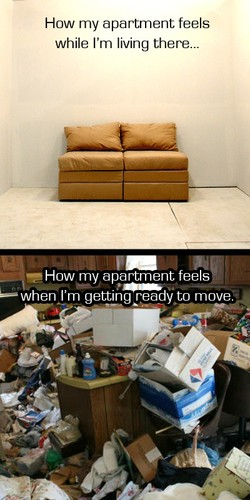 How my apartment feels 
