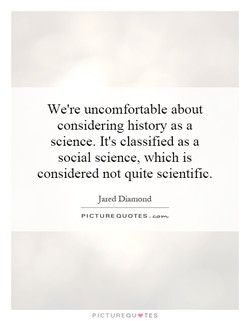 We're uncomfortable about 