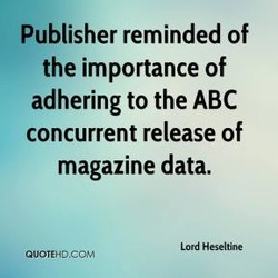 Publisher reminded of 