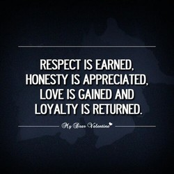 RESPECT IS EARNED, 