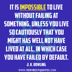 IT 15 IMPOSSIBLE TO LIVE 