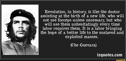 Revolution, in history, is like the doctor 