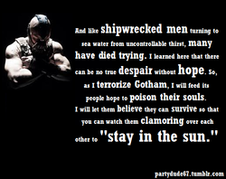 And like shipwrecked men turning to 