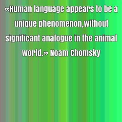«Human language annears to be a 