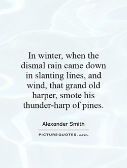 In winter, when the 