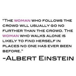 THE WOMAN WHO FOLLOWS THE 