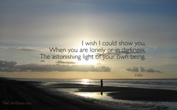 I wish I could show you, 