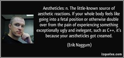 Aestheticles: n. The little-known source of 