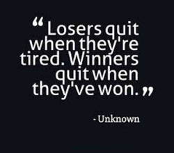 Losers quit 