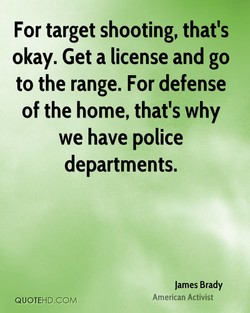 For target shooting, that's 