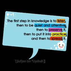 The first step in knowledge is to listed, 