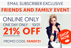 EMAIL SUBSCRIBER EXCLUSIVE 