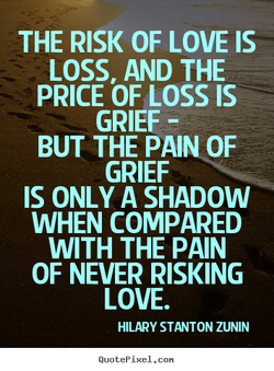THE RISK OF LOVE IS 