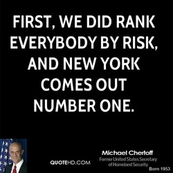 FIRST, WE DID RANK 